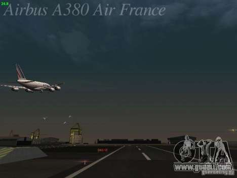 Airbus A380-800 Air France for GTA San Andreas interior