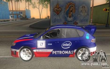 New vinyls to Subaru Impreza WRX STi for GTA San Andreas upper view