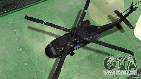 Sikorsky UH-60 Black Hawk for GTA 4 back view