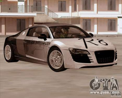 Audi R8 Production for GTA San Andreas inner view