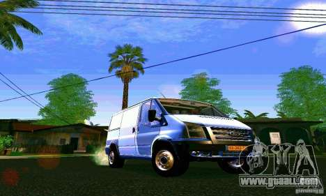 Ford Transit SWB 2011 for GTA San Andreas back view