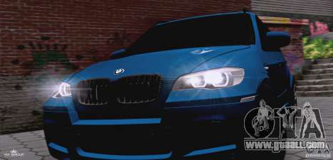 BMW X5M 2013 v1.0 for GTA San Andreas inner view