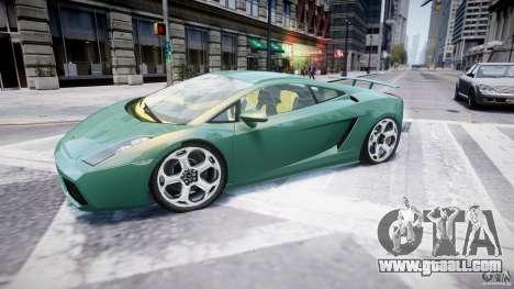 Lamborghini Gallardo for GTA 4 left view