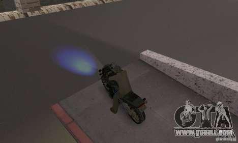 Blue headlights for GTA San Andreas second screenshot