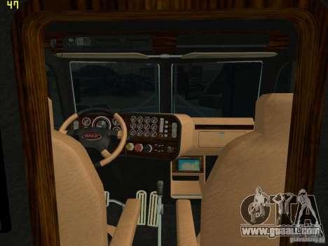 Peterbilt 379 Wrecker for GTA San Andreas back left view