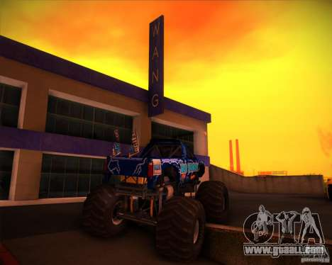 Monster Truck Blue Thunder for GTA San Andreas side view