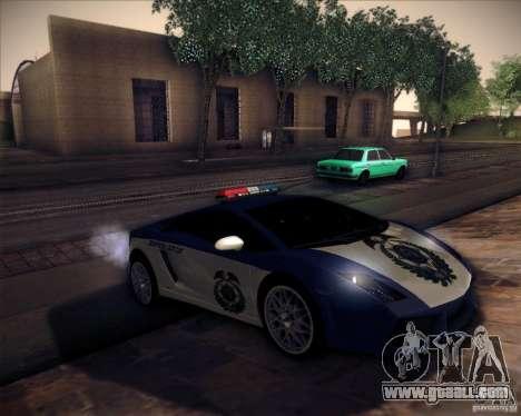 Lamborghini Gallardo LP560-4 Undercover Police for GTA San Andreas right view