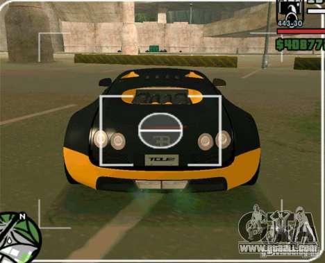 Bugatti Veyron Super Sport final for GTA San Andreas back left view