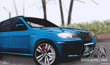 BMW X5M 2013 v1.0 for GTA San Andreas back view