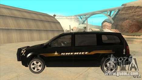 Dodge Caravan Sheriff 2008 for GTA San Andreas left view