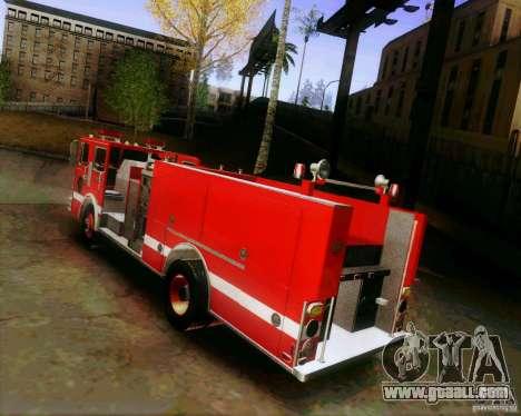 Pumper Firetruck Los Angeles Fire Dept for GTA San Andreas left view