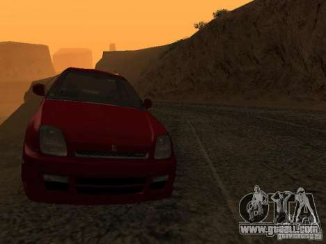 Honda Prelude Sport for GTA San Andreas inner view