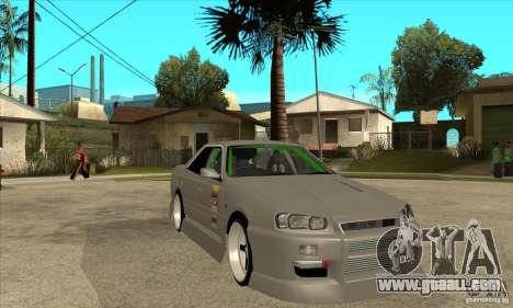 Nissan Skyline Er34 Street Drift for GTA San Andreas back view