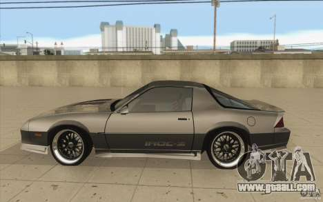Chevrolet Camaro IROC-Z 1989 for GTA San Andreas left view