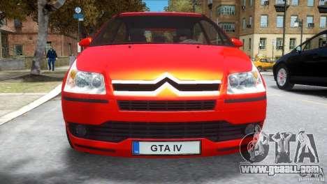 Citroen C4 for GTA 4 inner view