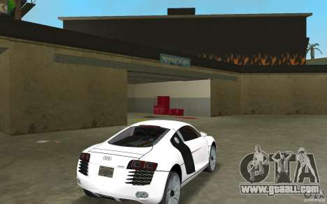 Audi R8 Le Mans for GTA Vice City right view
