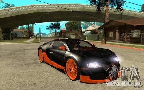 Bugatti Veyron Super Sport 2011 for GTA San Andreas back view