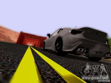 Toyota 86 TRDPerformanceLine 2012 for GTA San Andreas bottom view