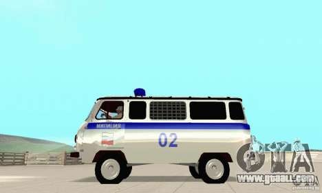 UAZ Police for GTA San Andreas back view