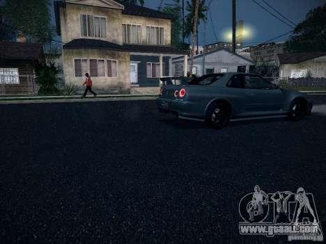 Nissan Skyline Z-Tune for GTA San Andreas inner view