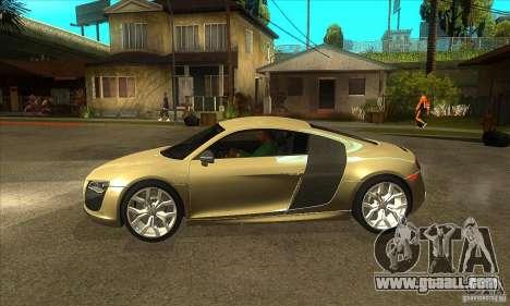 Audi R8 V10 5.2 FSI Quattro for GTA San Andreas left view