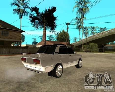 VAZ 2107 Light Tuning v2.0 for GTA San Andreas back left view