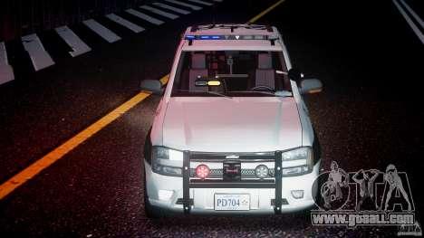 Chevrolet Trailblazer Police V1.5PD [ELS] for GTA 4 bottom view