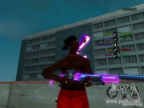 Purple chrome on weapons for GTA San Andreas third screenshot