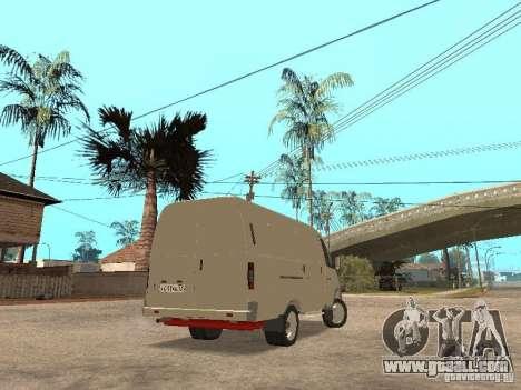Gazelle 2705 for GTA San Andreas back left view