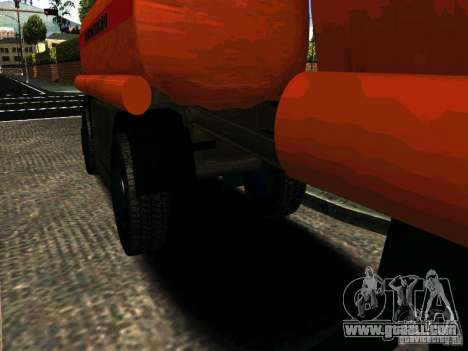 MAZ 533702 Truck for GTA San Andreas back left view