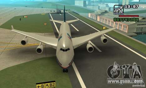 Aircraft from GTA 4 Boeing 747 for GTA San Andreas back left view