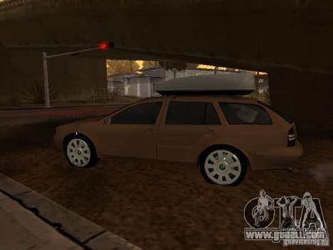 Skoda Octavia for GTA San Andreas back left view