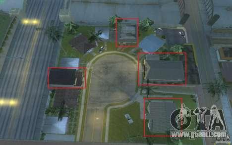 Four new houses on Grove Street for GTA San Andreas fifth screenshot