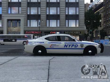 Dodge Charger NYPD for GTA 4 back left view