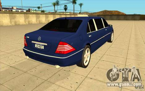 Mercedes-Benz S600 Pullman W220 for GTA San Andreas side view