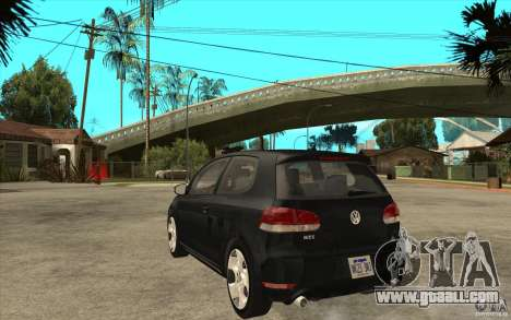 VW Golf 6 GTI for GTA San Andreas back left view
