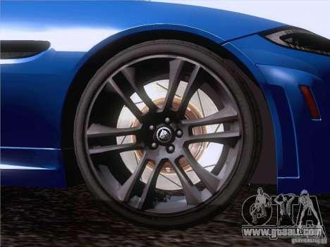 Jaguar XKR-S 2011 V2.0 for GTA San Andreas upper view