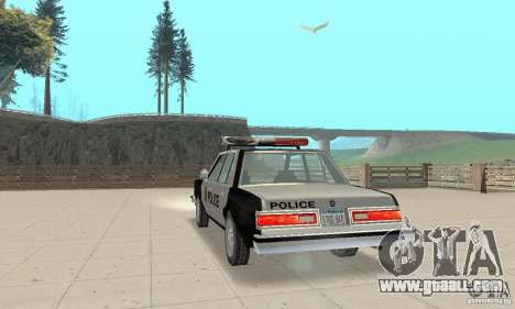 Dodge Diplomat 1985 Police for GTA San Andreas left view