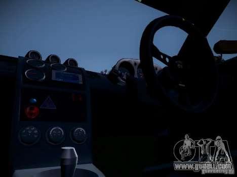 Nissan 370Z Chris Forsberg for GTA San Andreas back view
