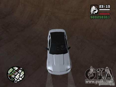 Ford Mustang GT B&W for GTA San Andreas back view