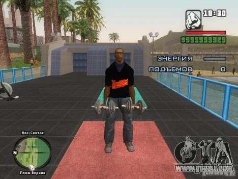 THE MIZ T-shirt for GTA San Andreas seventh screenshot