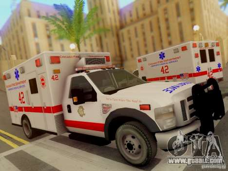Ford F350 Super Duty Chicago Fire Department EMS for GTA San Andreas