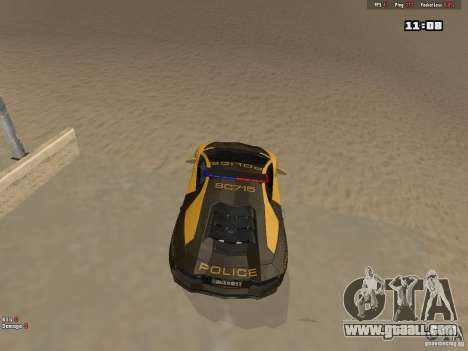 Lamborghini Aventador LP700-4 Police for GTA San Andreas