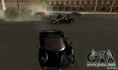 Pagani Zonda F Speed Enforcer BETA for GTA San Andreas inner view