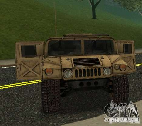 Sand Patriot HD for GTA San Andreas back left view