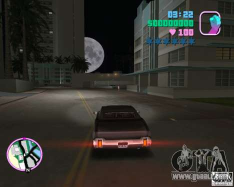 New Sabre for GTA Vice City back left view