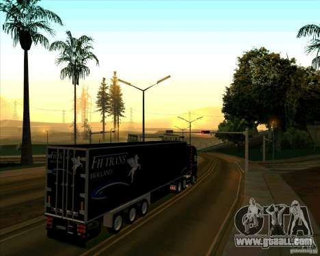 Trailer to the Scania R620 Pimped for GTA San Andreas back left view