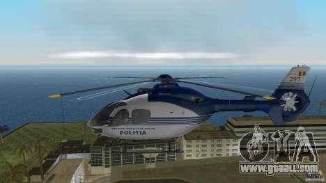 Eurocopter Ec-135 Politia Romana for GTA Vice City back left view