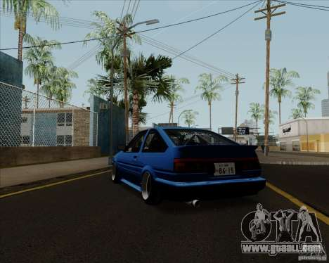 Toyota Sprinter Trueno AE86 JDM for GTA San Andreas back left view