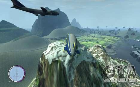 Airship for GTA 4 back view